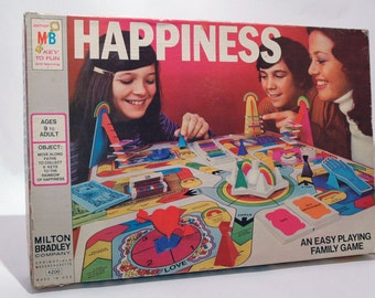 Happiness Game from Milton Bradley 1972 COMPLETE (read description)
