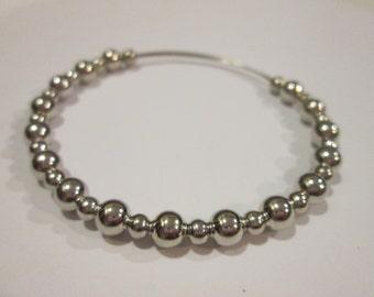 Glitzy Glamour expandable beaded wire bangle bracelet