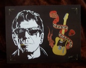 "LOU REED in Art is a Limited Edition, 10""x13"", numbered Print of the Original Painting by Artist Charles Freeman"