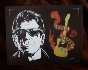 """LOU REED in Art is a Limited Edition, 10""""x13"""", numbered Print of the Original Painting by Artist Charles Freeman"""