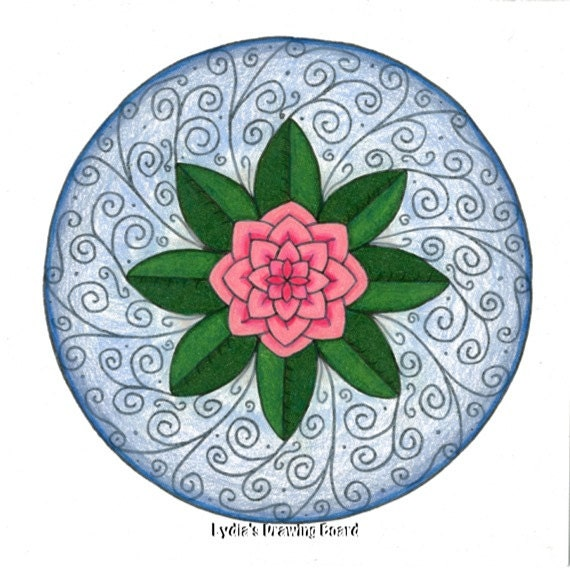 Note Cards, Notecards, Blank Cards, Birthday Card, Camellia, Cards, Floral Cards, Mandala Art, Small Art, Flower Art, Mandala Print, Mandala