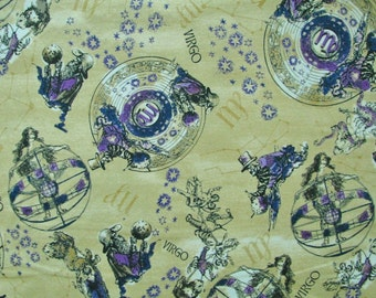 Popular items for zodiac fabric on etsy for Astrology fabric