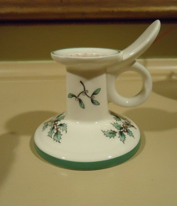 Spode Christmas Tree Candle Holder: Spode Christmas Tree Candle Holder Chamber By
