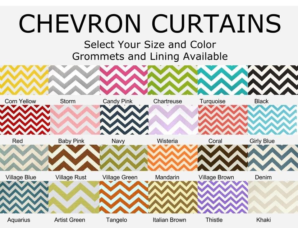 Chevron print curtains