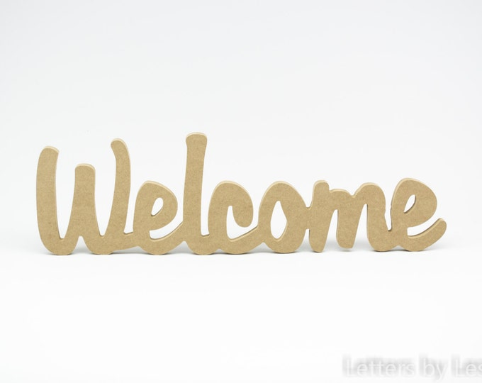 Unfinished Welcome Sign. Wood Welcome sign. Welcome wall sign. DIY wall sign