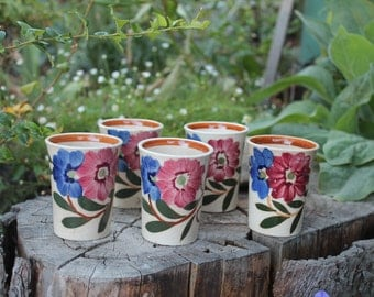 Decorative vintage juice cups.
