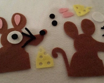 Felt die cuts mouse toppers appliqué embellishments scrapping sewing crafting
