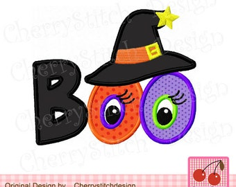 Halloween BOO- for 4x4 5x7 6x10 hoop-Machine Embroidery Applique Design
