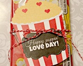 INSTANT Download POPCORN Valentines Day Cards School Lunch Box Jokes - (8) Printable lunchbox Notes kids cards