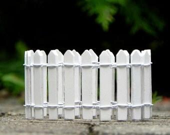 White picket fence 18 inch, miniature supply for fairy garden, miniature garden, garden miniature accessories, terrarium supplies diy supply