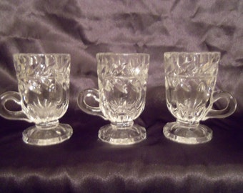 Dainty glass mugs