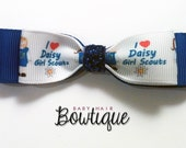 Baby Hair Clips - Daisy Girl Scouts - Partially Lined Alligator Hair Clip - Baby, Girl, Toddler, Children