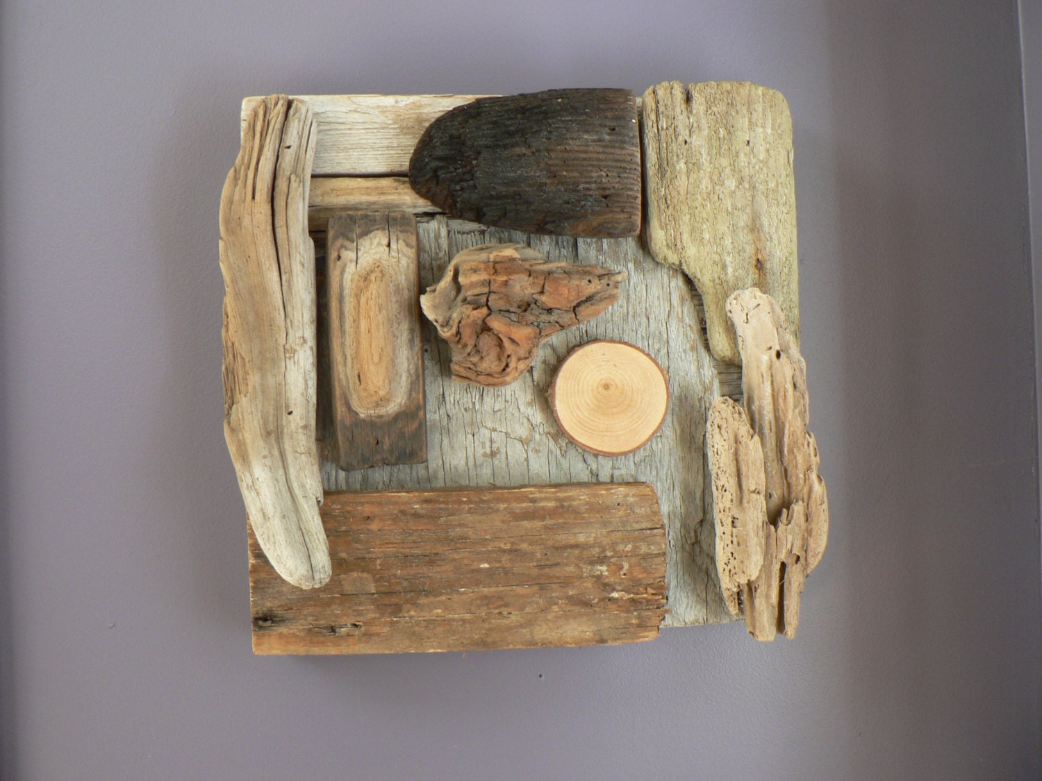 Driftwood wall art Driftwood Rustic home by ...