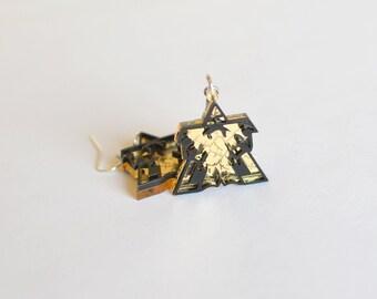 Starcraft Terran Emblem Earings