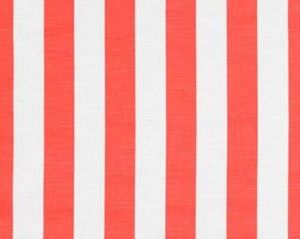 Handmade Curtain/Window Valance 50W x 15L in Salmon Stripes