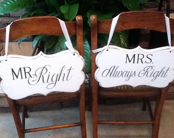 Custom signs / Wedding decor / Wedding signs / Photo booth signs / Bride and Groom signs / Mr and Mrs signs / cottage decor / table decor