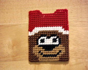 Teddy Bear Gift Card Holder // Teddy Bear Baby Shower // Gift Card Case // Christmas Gift // Plastic Canvas // Gift for Her // Kids Gift