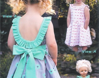 Pattern - Penelope - Sundress & Doll dress Paper Sewing Pattern by Olive Ann Designs