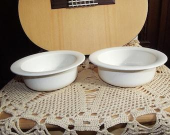 Two ceramic bowls. Two Arctica bowls. Arabia Finland. Arctica Ecru Bowls. Two & Finnish bowls | Etsy