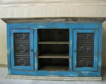 Media Console / TV Cabinet / Storage Cabinet Shown in Summer Teal
