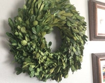 Uptown Preserved  Boxwood Wreath, Elegant Decor, ANY ribbon color, Boxwood Wreath