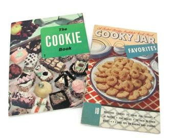 Vintage Cookie Booklets, 1960's Cookie Recipes, Cookie Cookbook, Mid Century