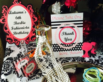 Barbie/Fashion/Diva Theme Party Package for 10