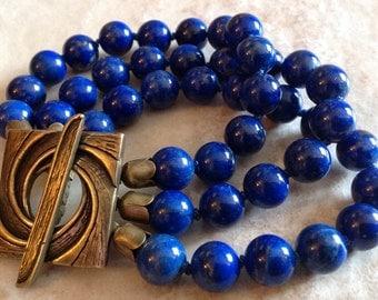 Handmade Lapis Bracelet