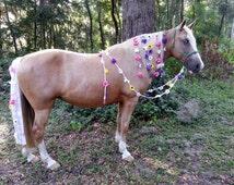 Fantasy Horse Costume - Woodland Flowers Equine Costume - Spring Flowers Costume, Costume for Horse