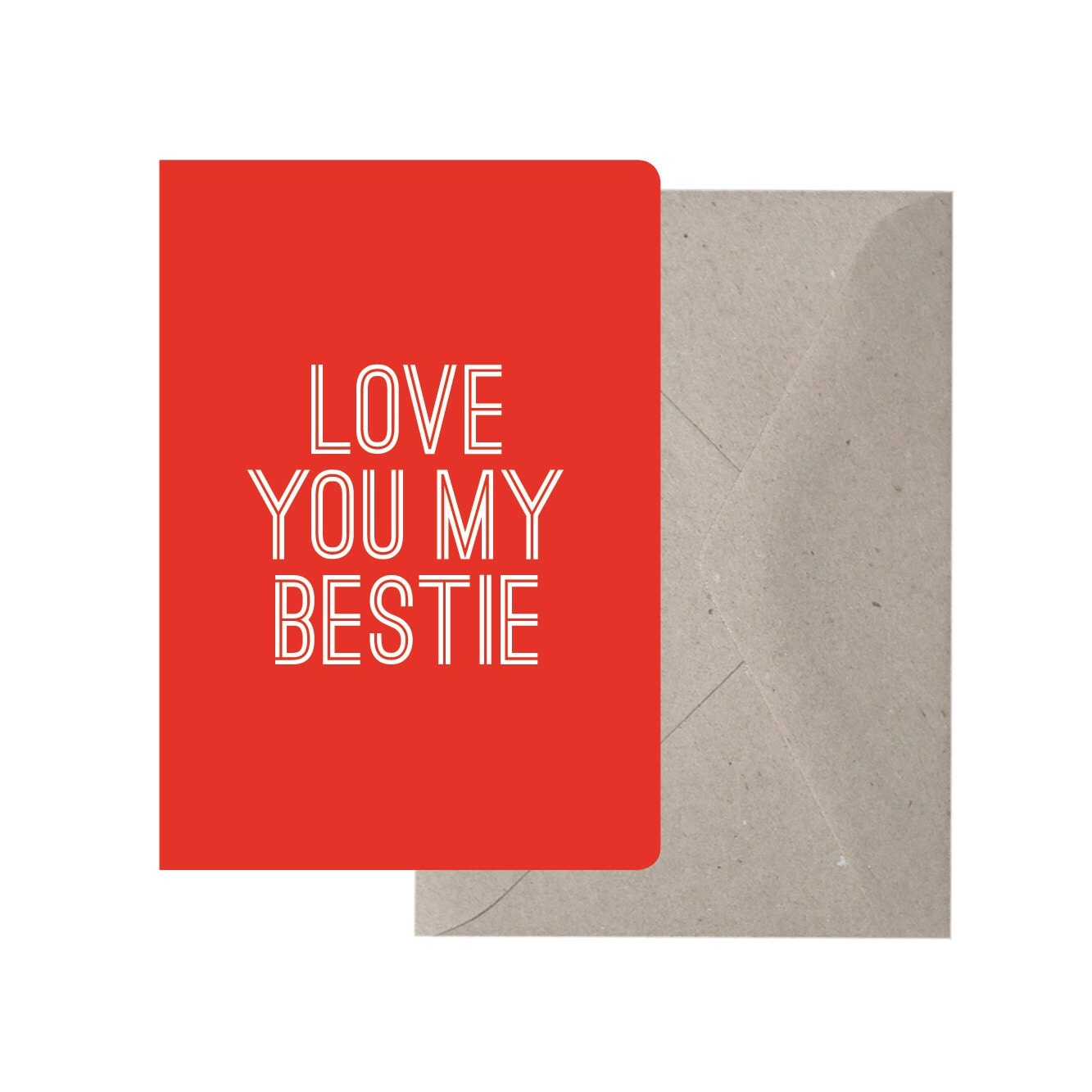 valentines day quotes for your best friend - Greeting Card Love You my Bestie Best Friend by TheThinktree