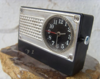 Soviet Vintage Mechanical Clock Luch Made in USSR in 1970s.