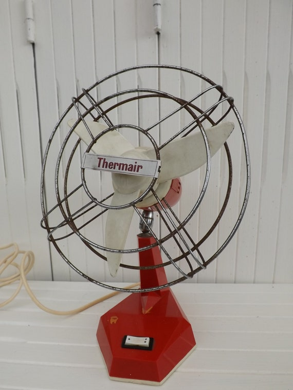 Vintage Wall Mounted Fans : Vintage retro desk fan s thermair wall mounted