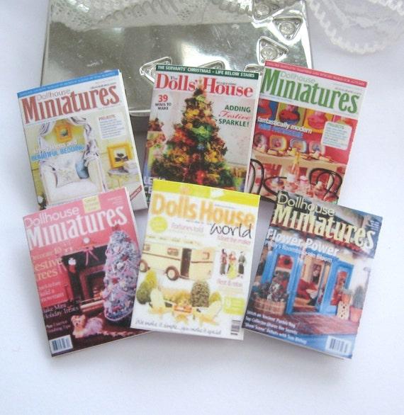 Dollhouse Magazines For Dollhouse X 6 Miniatures 12th