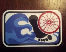 Triathlon decal, sticker, bumper sticker (set of 2)