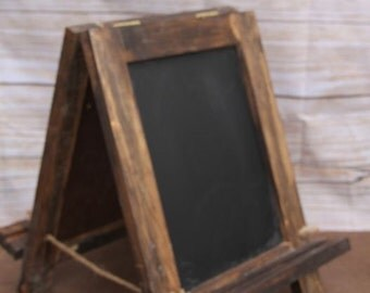 The Small Chalkboard Easel - Double Sided - Hinged - Weddings - Parties - Craft Fairs - Boutiques