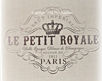 """Typography - Print - Fine Art Photography - French - Vintage Style -Home Decor -  """"Le Petit Royale"""" - You Choose the Size"""