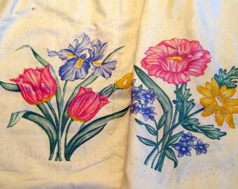 Vintage Painted Printed Quilt Blocks
