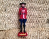 Canadian Mountie Statue ~ Mid Century Reliable Toy R.C.M.P. Figurine ~Made in Canada ~Royal Canada Mounted Police Figure ~Retro Shelf Sitter