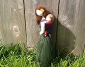 Needle Felted Babywearing Mother with Baby Would make a great baby shower or Mother's Day gift