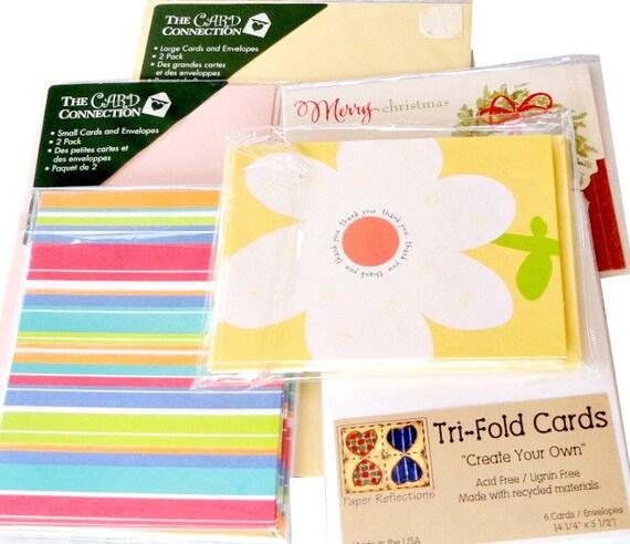 Blank Cards Envelopes Destash Lot Of 32 Card Making Paper