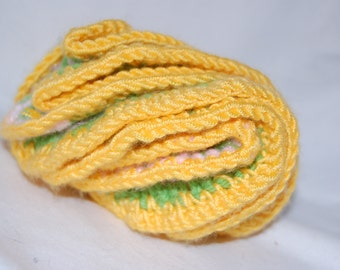Handmade Yellow, Green, and Pink 3D Coral Baby Toy