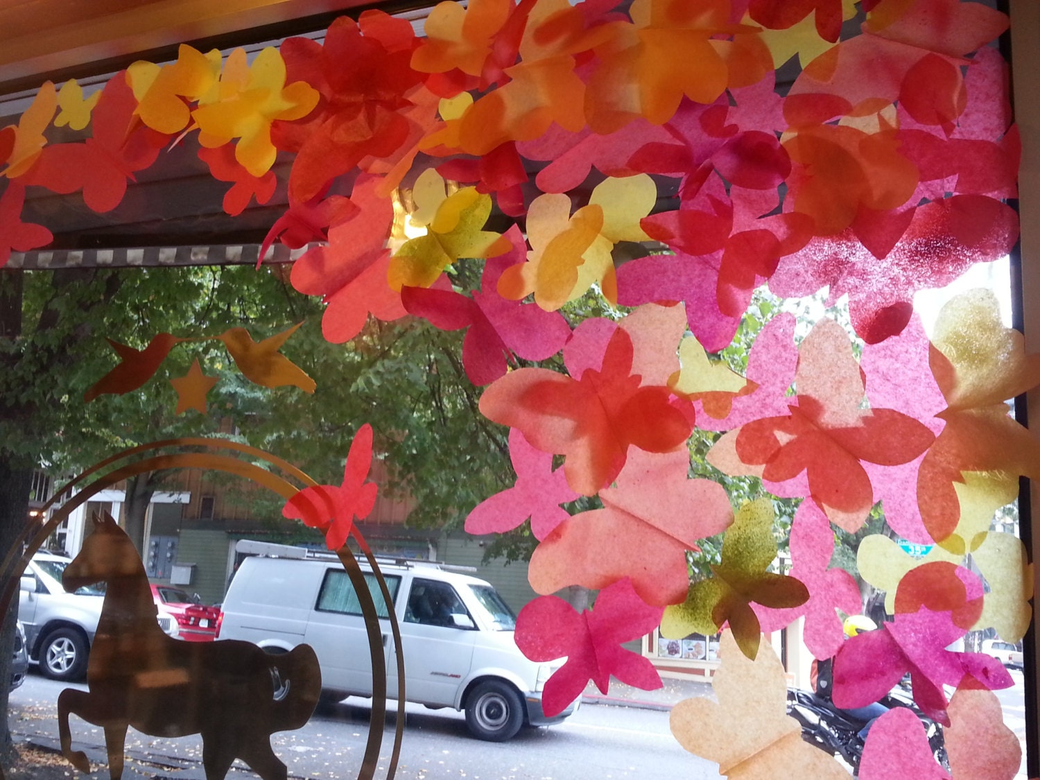 300 fall butterfly leaves for autumn window for Autumn window decoration