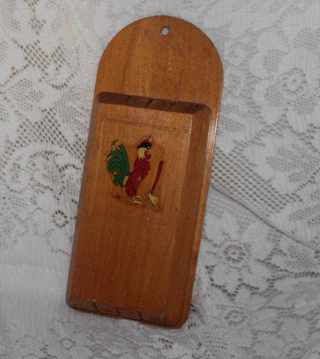 Vintage Rooster Kitchen Knife Holder Rooster Kitchen By