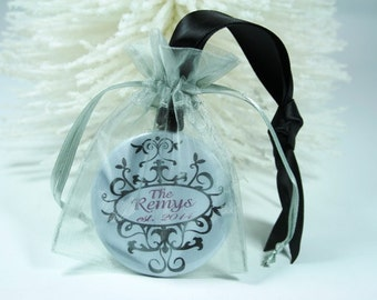Personalized Christmas Ornament - wedding gift, first Christmas, bride and groom ornament,wedding ornament