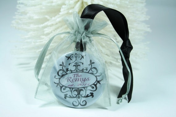 Christmas Ornament Wedding Gift: Items Similar To Personalized Christmas Ornament