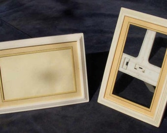 Pair of vintage plastic 'Thermold ' photo frames, 1940's