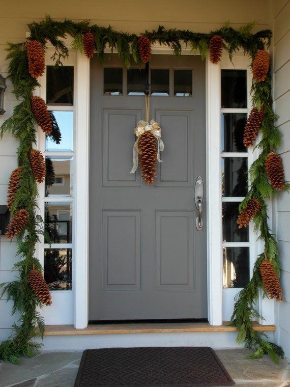 Items similar to huge pinecones decorator 39 s favorite on etsy for Pine cone door decoration