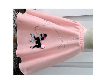 Adult Pink Hand-Made Poodle Skirt Womens Custom-Made OR You Choose Size & Color!