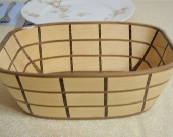 Maple and Walnut Windowpane Bowl
