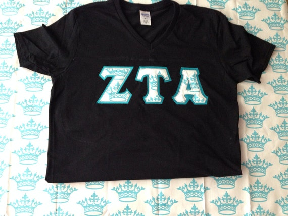 items similar to zta letter shirt with crown fabric on etsy With zta letter shirts